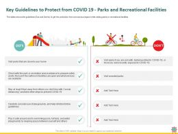 Key Guidelines To Protect From COVID 19 Parks And Recreational Facilities Visit Ppt Powerpoint Slides Picture