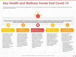 Key Health And Wellness Trends Post COVID 19 Focus Ppt Powerpoint Presentation File Aids