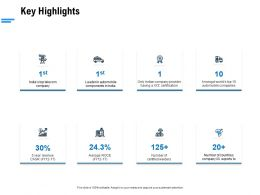 Key Highlights Ppt Powerpoint Presentation Infographic Template Picture