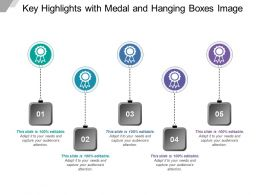 Key Highlights With Medal And Hanging Boxes Image