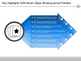 Key Highlights With Seven Steps Showing Arrow Pointers