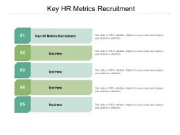 Key HR Metrics Recruitment Ppt Powerpoint Presentation Model Structure Cpb