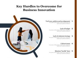 Key Hurdles To Overcome For Business Innovation