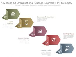 Key Ideas Of Organisational Change Example Ppt Summary
