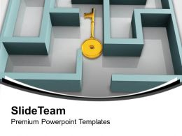 key_in_labyrinth_search_complex_situation_powerpoint_templates_ppt_themes_and_graphics_0213_Slide01
