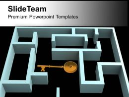 Key In The Labyrinth Complex Structure Security PowerPoint Templates PPT Themes And Graphics 0213