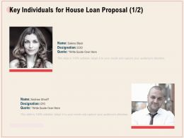 Key Individuals For House Loan Proposal R340 Ppt Powerpoint Presentation Icon Model