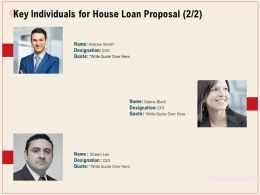 Key Individuals For House Loan Proposal R341 Ppt Powerpoint Presentation Icon