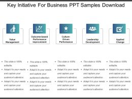 Key Initiative For Business Ppt Samples Download