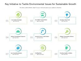 Key Initiative To Tackle Environmental Issues For Sustainable Growth