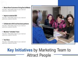 Key Initiatives By Marketing Team To Attract People