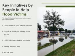 Key Initiatives By People To Help Flood Victims