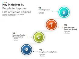 Key Initiatives By People To Improve Life Of Senior Citizens