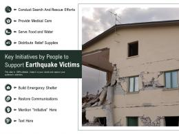 Key Initiatives By People To Support Earthquake Victims