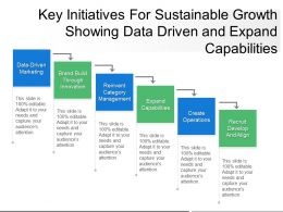 Key Initiatives For Sustainable Growth Showing Data Driven And Expand Capabilities