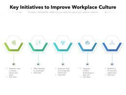Key Initiatives To Improve Work Place Culture