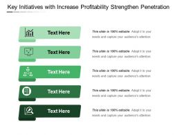 Key Initiatives With Increase Profitability Strengthen Penetration