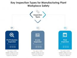 Key Inspection For Manufacturing Plant Workplace Safety