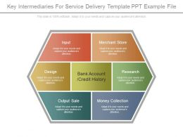 Key Intermediaries For Service Delivery Template Ppt Example File