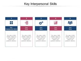 Key Interpersonal Skills Ppt Powerpoint Presentation Show Introduction Cpb