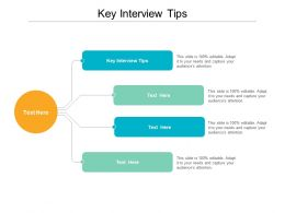 Key Interview Tips Ppt Powerpoint Presentation File Ideas Cpb