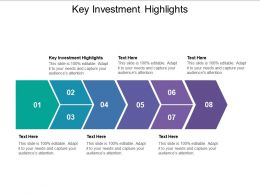 Key Investment Highlights Ppt Powerpoint Presentation Summary Cpb