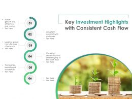 Key Investment Highlights With Consistent Cash Flow