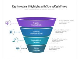 Key Investment Highlights With Strong Cash Flows