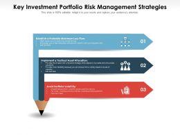Key Investment Portfolio Risk Management Strategies