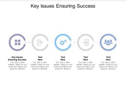 Key Issues Ensuring Success Ppt Powerpoint Presentation Pictures Images Cpb