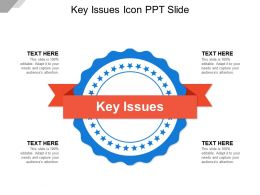 Key Issues Icon Ppt Slide