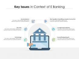 Key Issues In Context Of E Banking