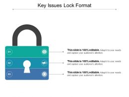Key Issues Lock Format