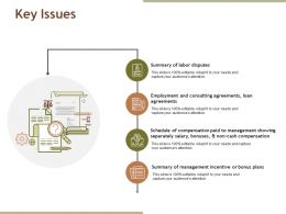 Key Issues Ppt Examples