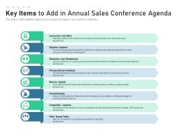 Key Items To Add In Annual Sales Conference Agenda