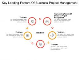 Key Leading Factors Of Business Project Management Ppt Powerpoint Presentation Styles Background Cpb