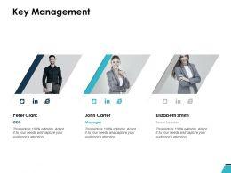 Key Management Communication Ppt Powerpoint Presentation Slides