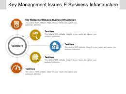Key Management Issues E Business Infrastructure Ppt Powerpoint Presentation Slides Aids Cpb