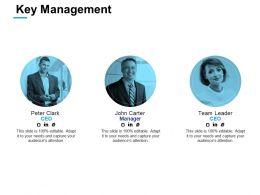 Key Management Marketing Ppt Powerpoint Presentation Infographic