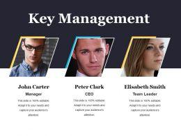 Key Management Powerpoint Presentation Templates