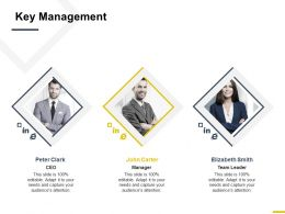 Key Management Team Leader Ppt Powerpoint Presentation Gallery Structure