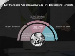 Key Managers And Contact Details Ppt Background Template