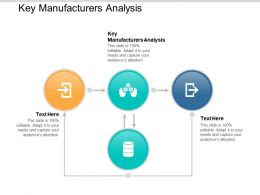 Key Manufacturers Analysis Ppt Powerpoint Presentation File Examples Cpb