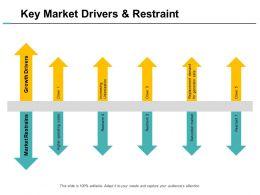 Key Market Drivers And Restraint Ppt Powerpoint Presentation Portfolio Slide Portrait