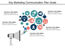 Key Marketing Communication Plan Goals Ppt Icon