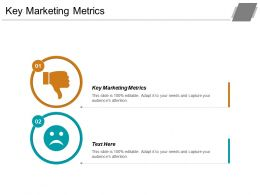 Key Marketing Metrics Ppt Powerpoint Presentation File Outfit Cpb