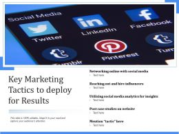 Key Marketing Tactics To Deploy For Results