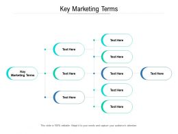 Key Marketing Terms Ppt Powerpoint Presentation Infographics Gridlines Cpb