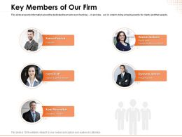 Key Members Of Our Firm Manager Ppt Powerpoint Presentation Guidelines
