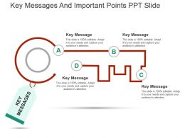 Key Messages And Important Points Ppt Slide